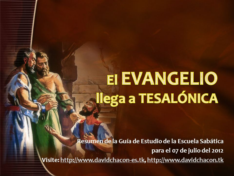 El EVANGELIO llega a TESALÓNICA