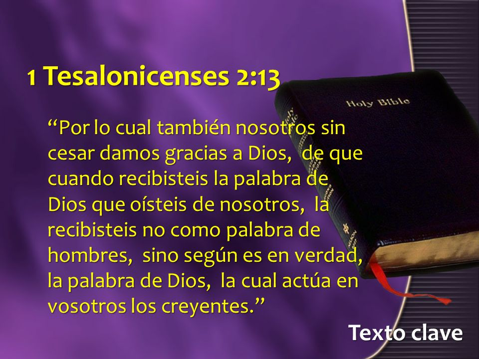 1 Tesalonicenses 2:13 Texto clave