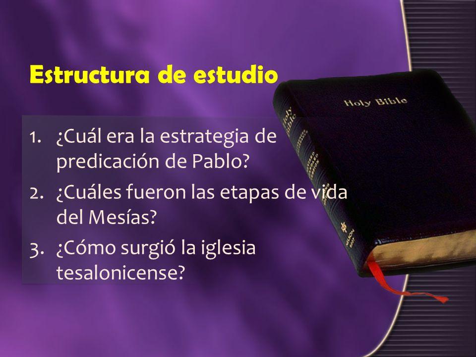 Estructura de estudio ¿Cuál era la estrategia de predicación de Pablo