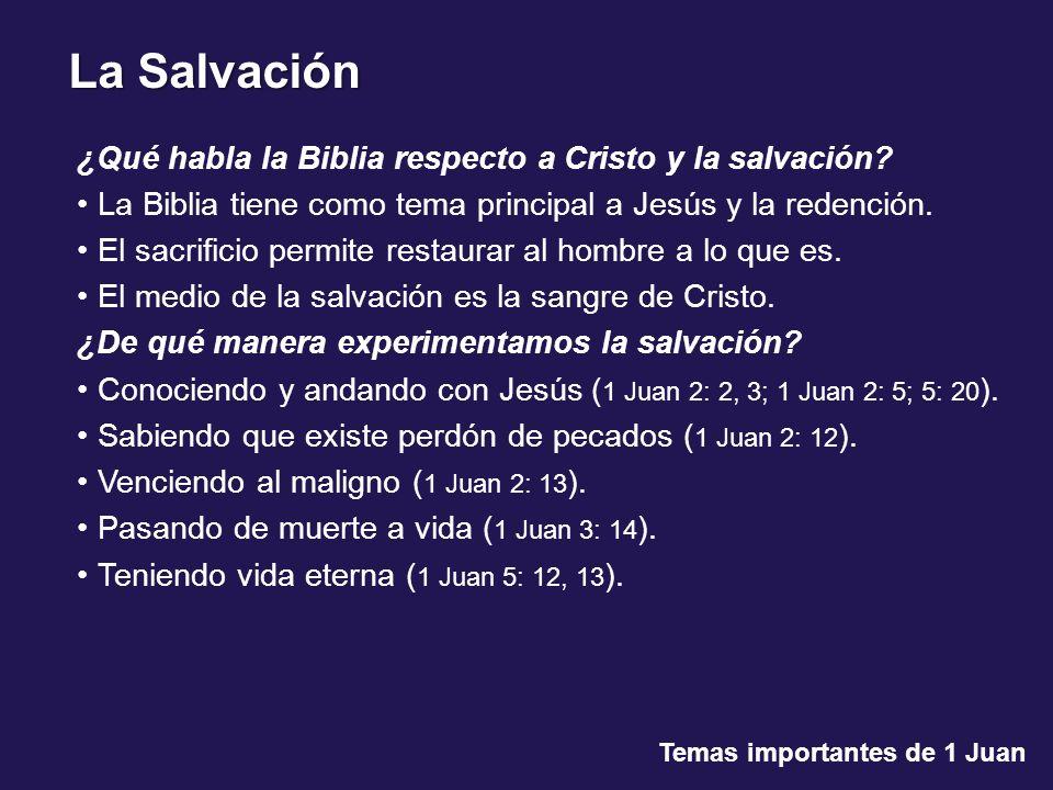 ¿Qué habla la Biblia respecto a Cristo y la salvación