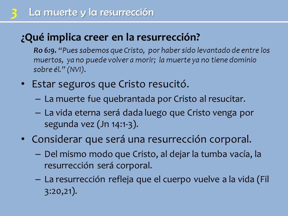 ¿Qué implica creer en la resurrección