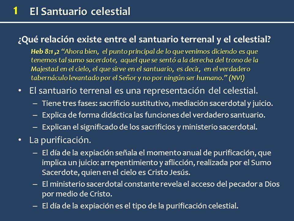 ¿Qué relación existe entre el santuario terrenal y el celestial
