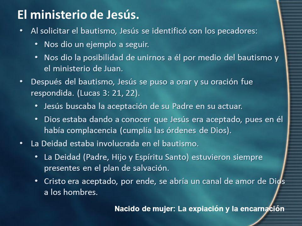 Al solicitar el bautismo, Jesús se identificó con los pecadores: