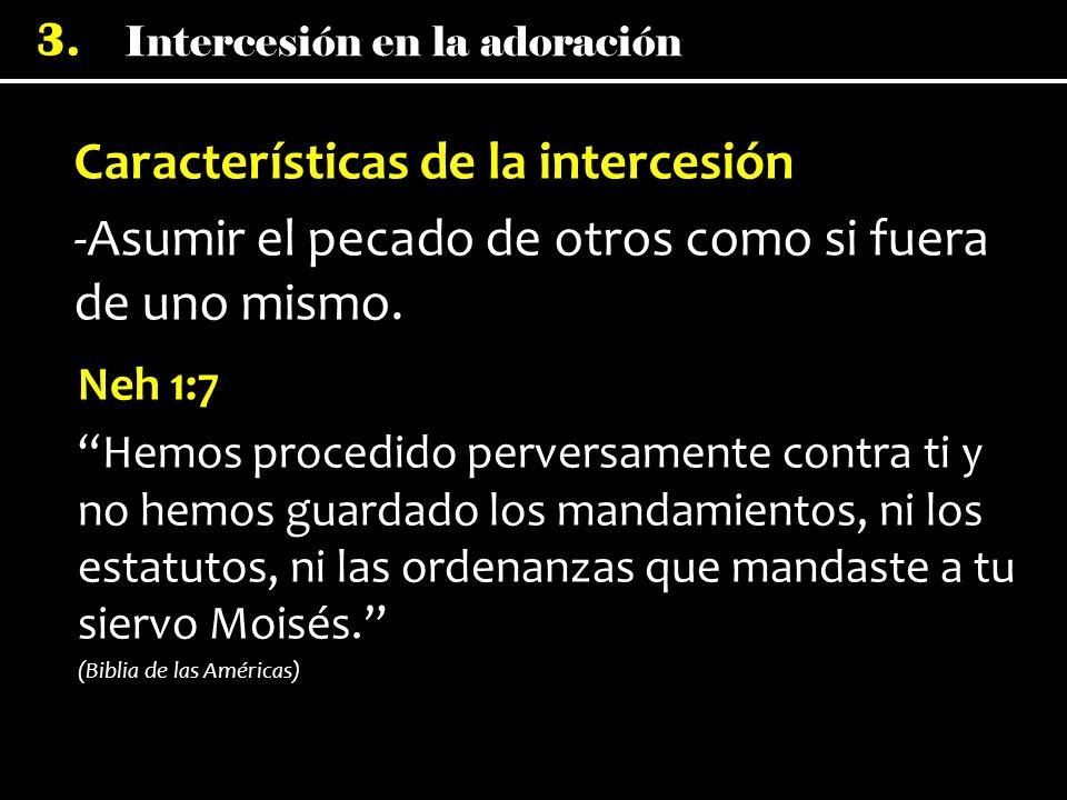 Características de la intercesión