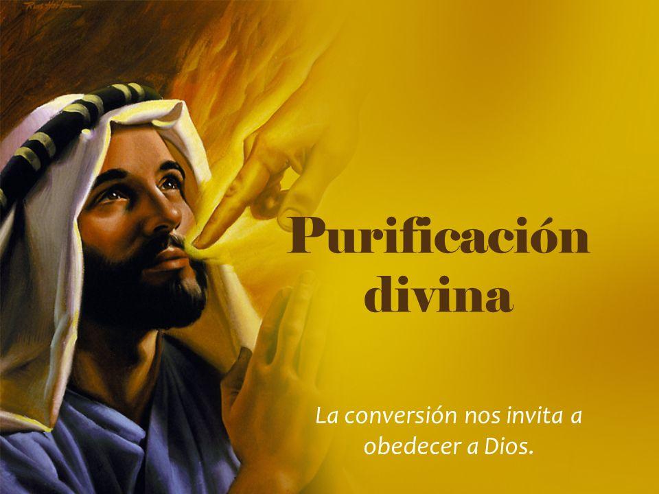 La conversión nos invita a obedecer a Dios.