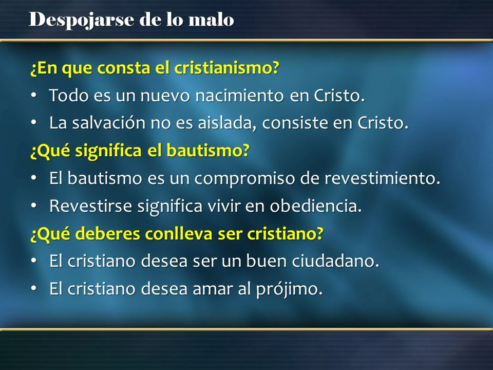 ¿En que consta el cristianismo