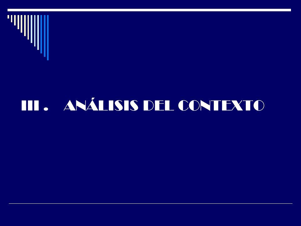 III . ANÁLISIS DEL CONTEXTO