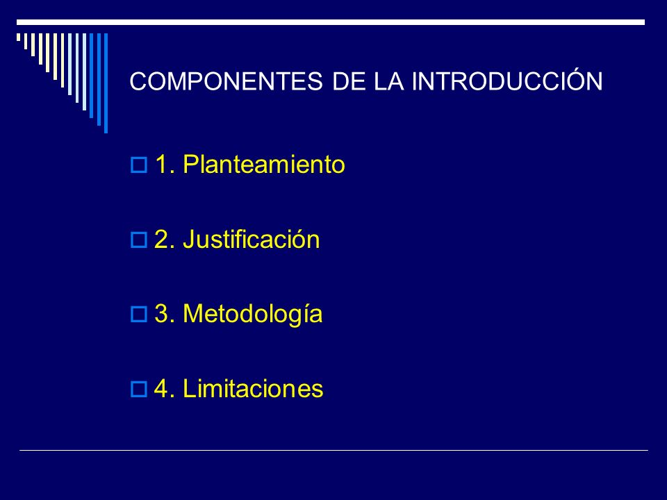 COMPONENTES DE LA INTRODUCCIÓN
