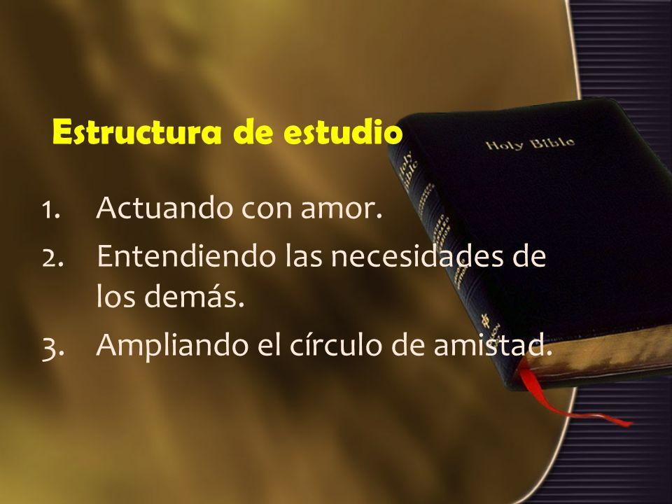 Estructura de estudio Actuando con amor.