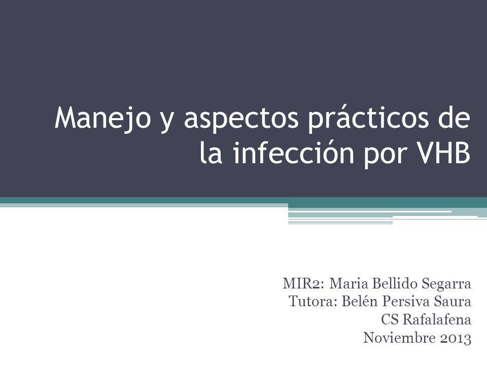 Manejo y aspectos prácticos de la infección por VHB