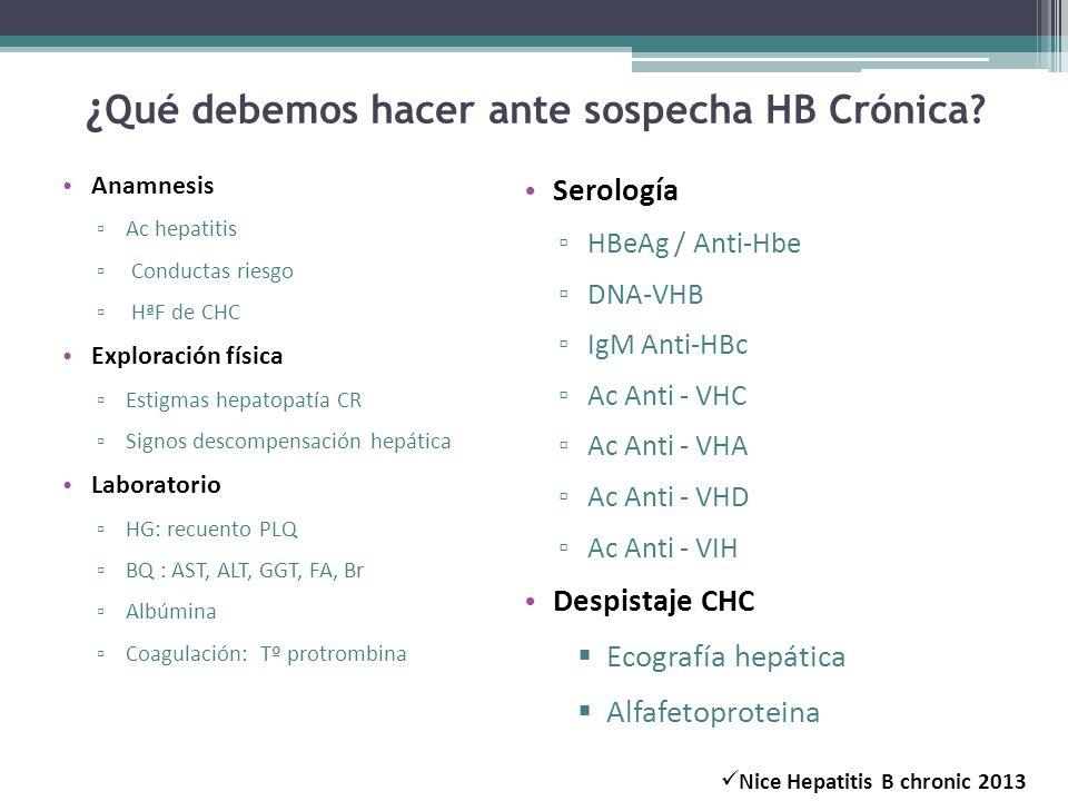 ¿Qué debemos hacer ante sospecha HB Crónica