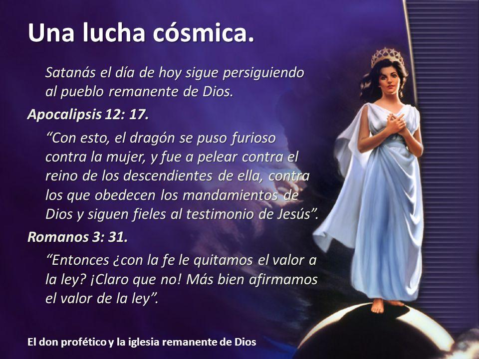 Satanás el día de hoy sigue persiguiendo al pueblo remanente de Dios.