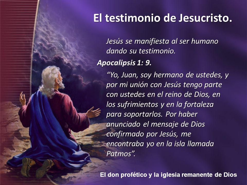 Jesús se manifiesta al ser humano dando su testimonio.