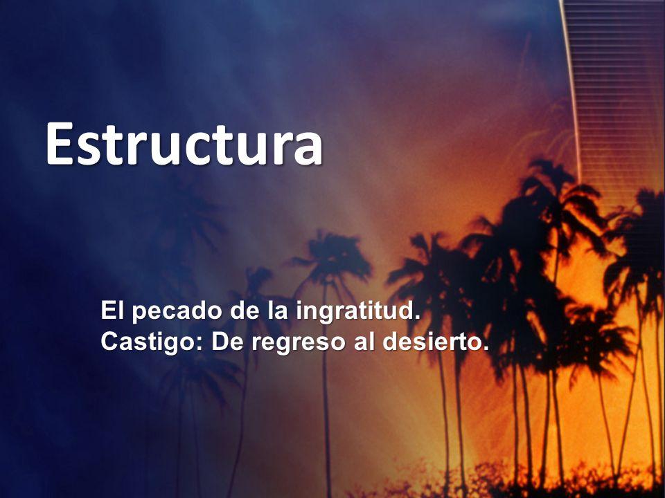 Estructura El pecado de la ingratitud.