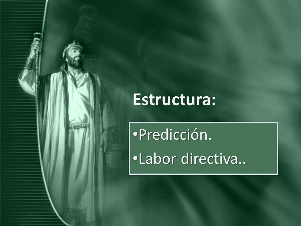 Estructura: Predicción. Labor directiva..