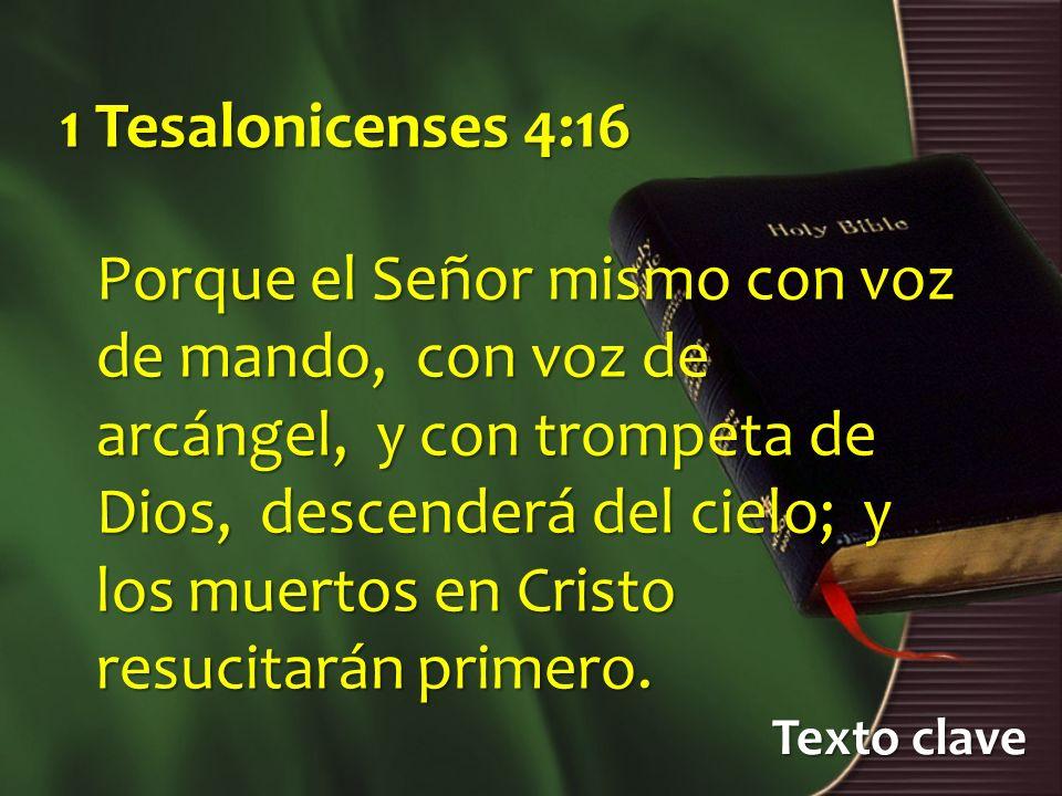 1 Tesalonicenses 4:16