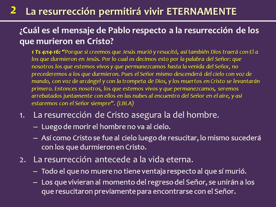 La resurrección de Cristo asegura la del hombre.