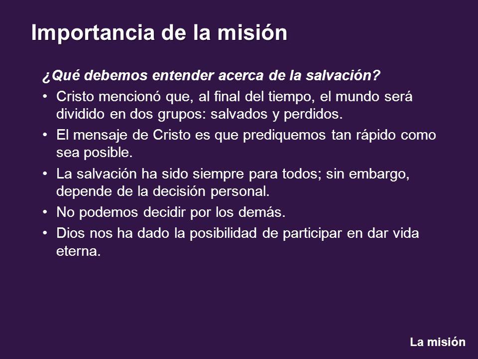 ¿Qué debemos entender acerca de la salvación