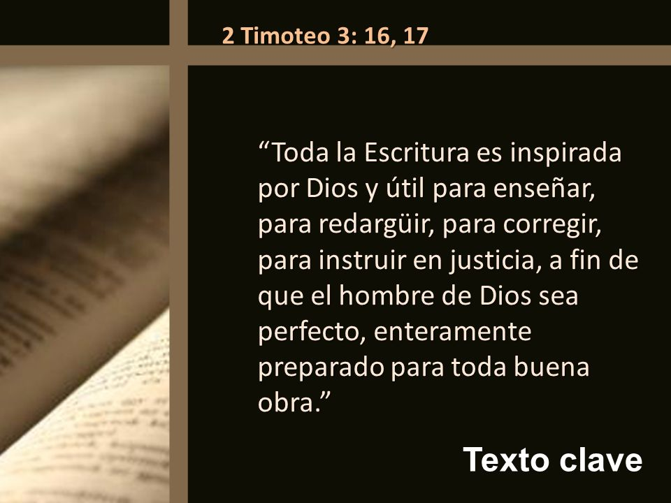 2 Timoteo 3: 16, 17