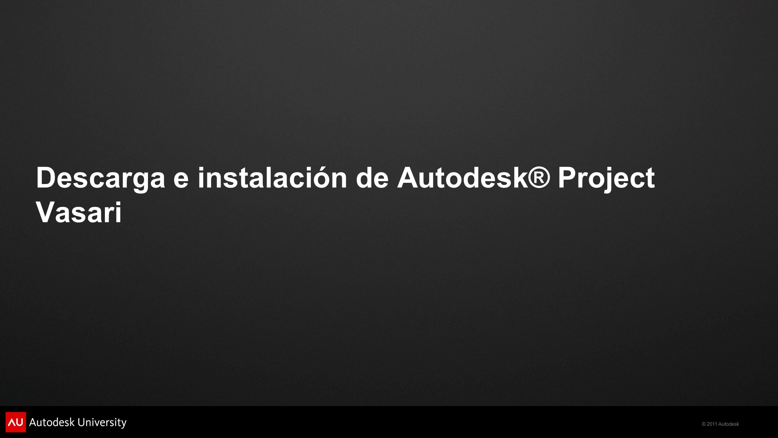 Descarga e instalación de Autodesk® Project Vasari