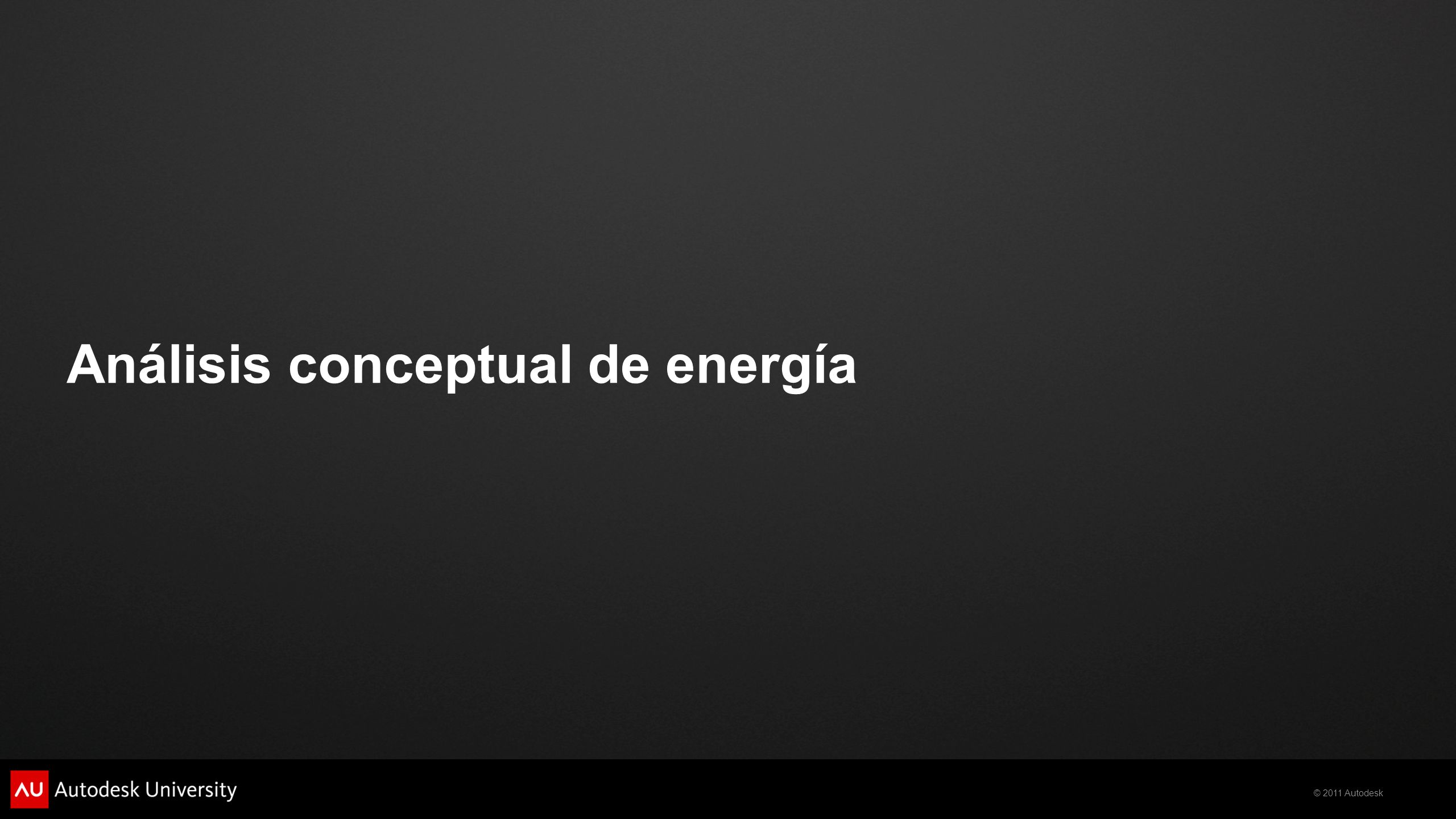 Análisis conceptual de energía