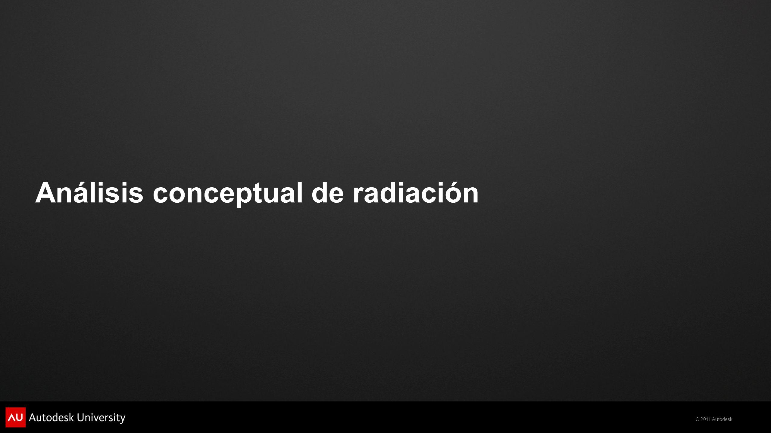 Análisis conceptual de radiación
