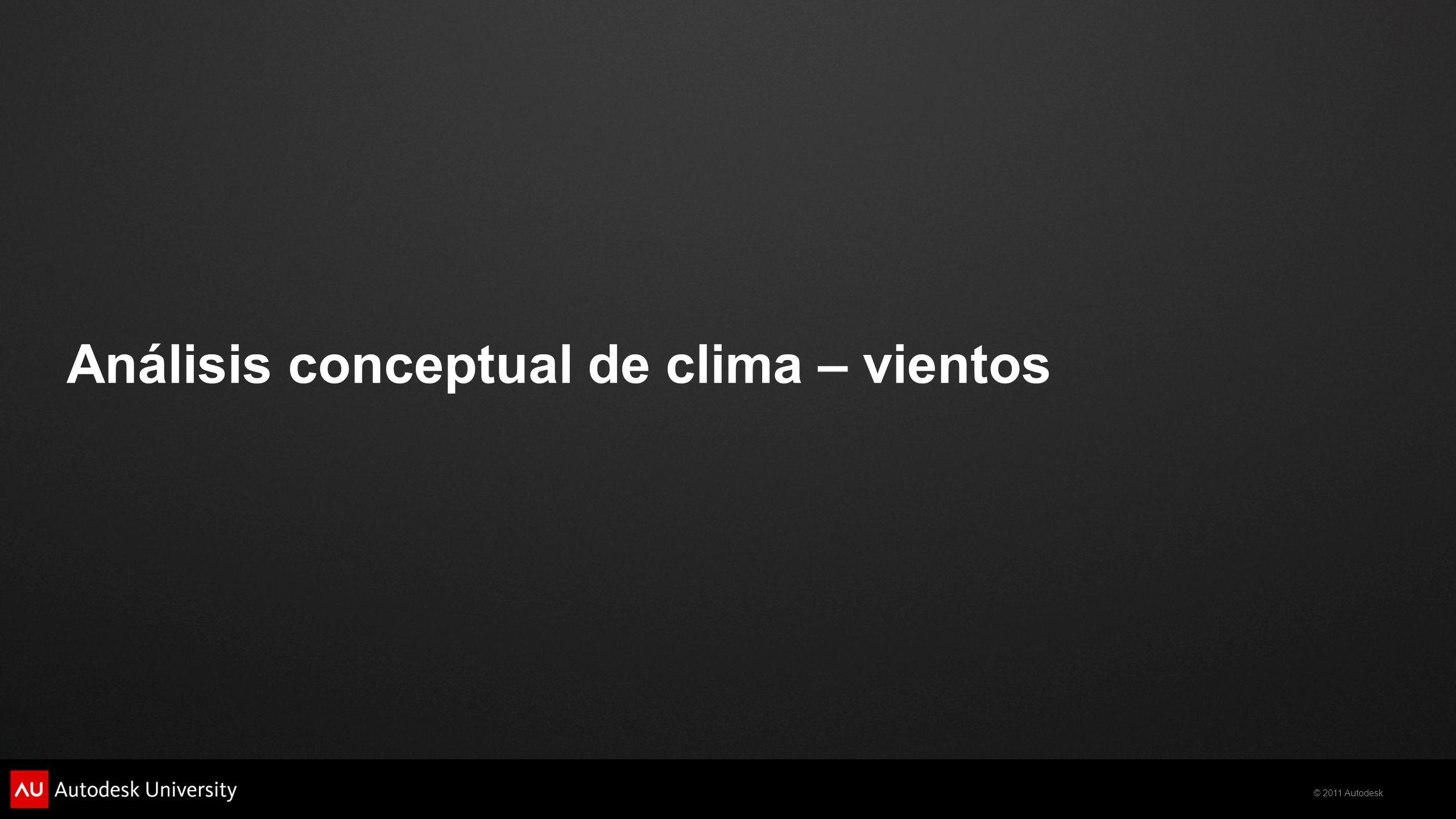 Análisis conceptual de clima – vientos