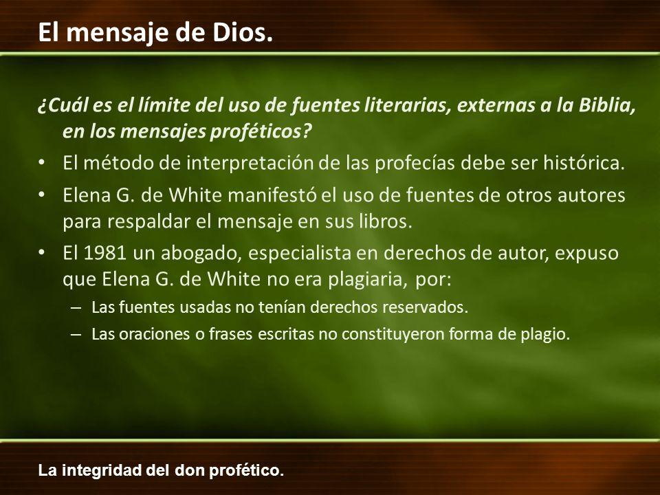 El método de interpretación de las profecías debe ser histórica.