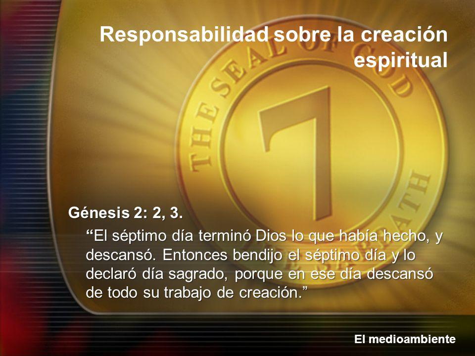 Génesis 2: 2, 3.