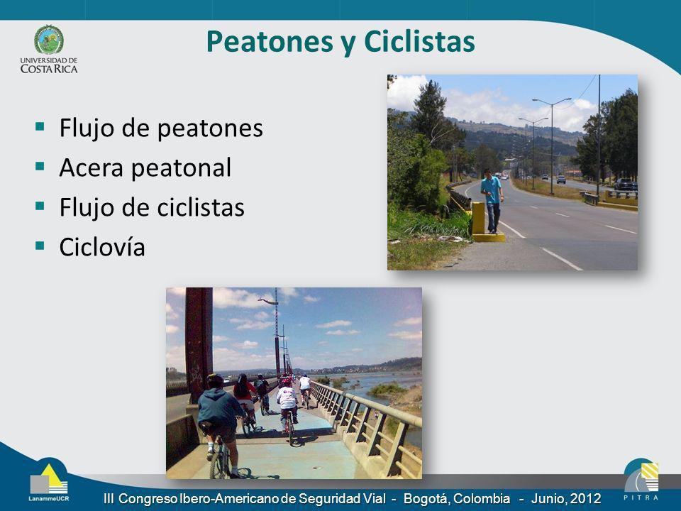 Peatones y Ciclistas Flujo de peatones Acera peatonal