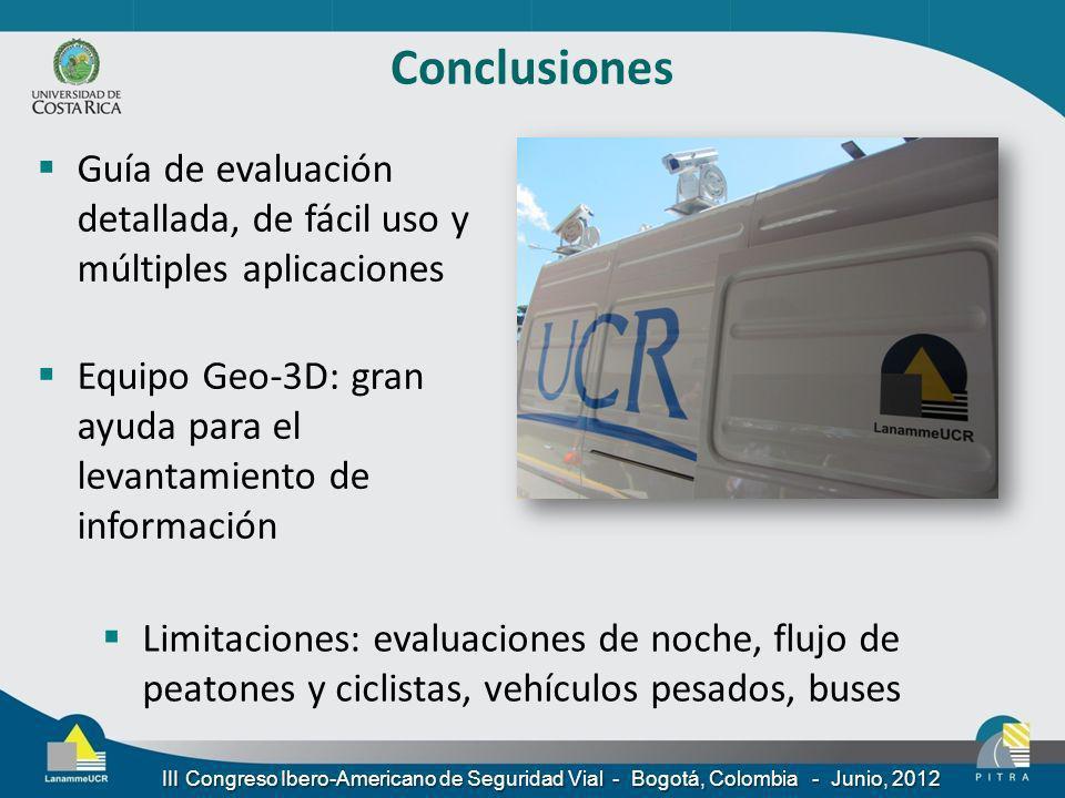 Conclusiones Guía de evaluación detallada, de fácil uso y múltiples aplicaciones.