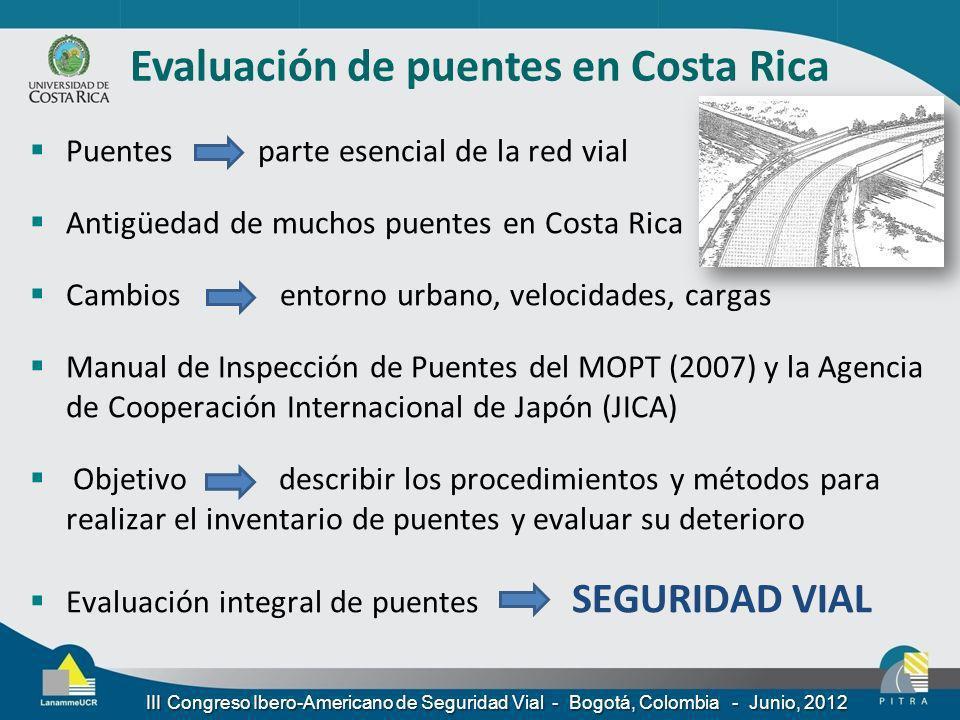 Evaluación de puentes en Costa Rica
