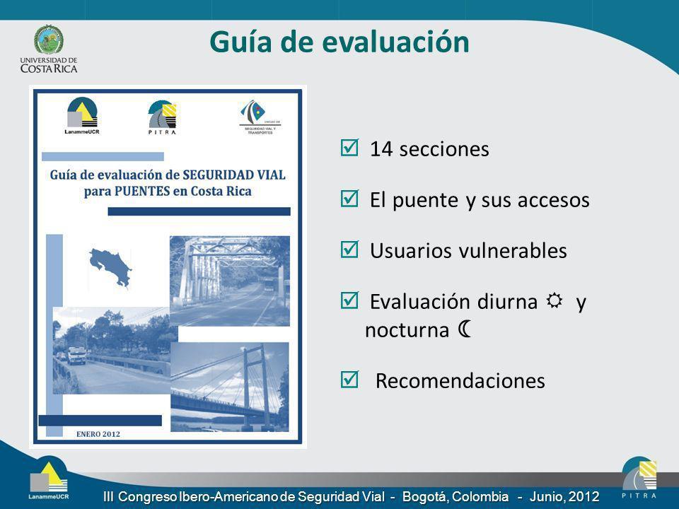 Guía de evaluación 14 secciones El puente y sus accesos