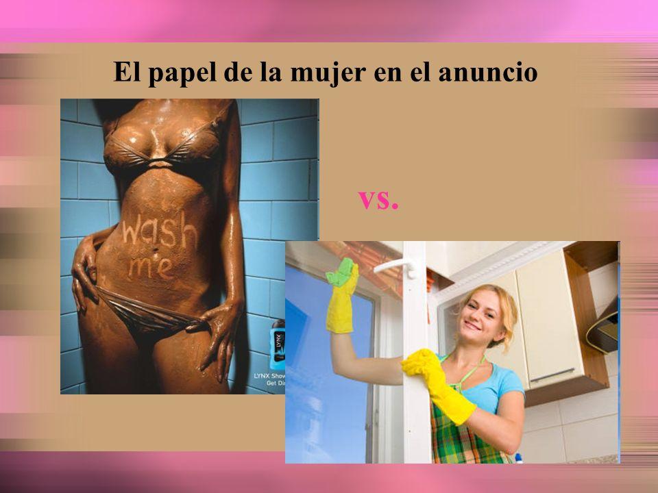 El papel de la mujer en el anuncio