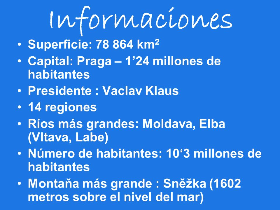 Informaciones Superficie: 78 864 km2