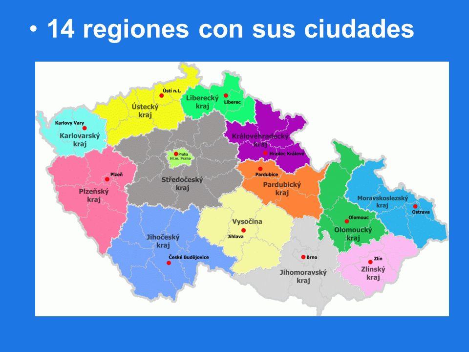 14 regiones con sus ciudades