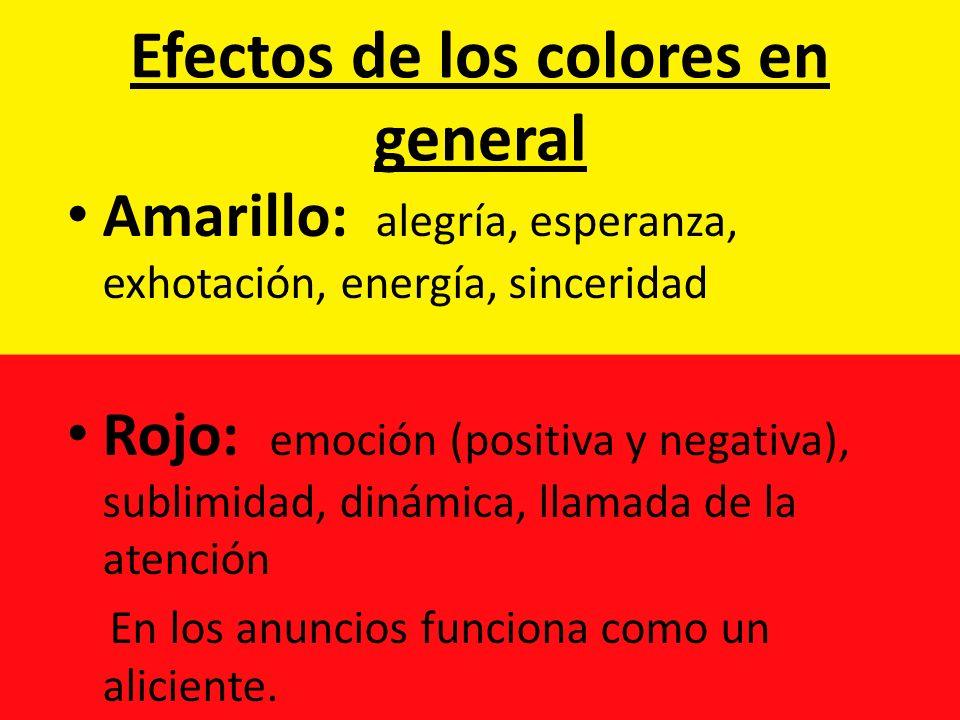 Efectos de los colores en general