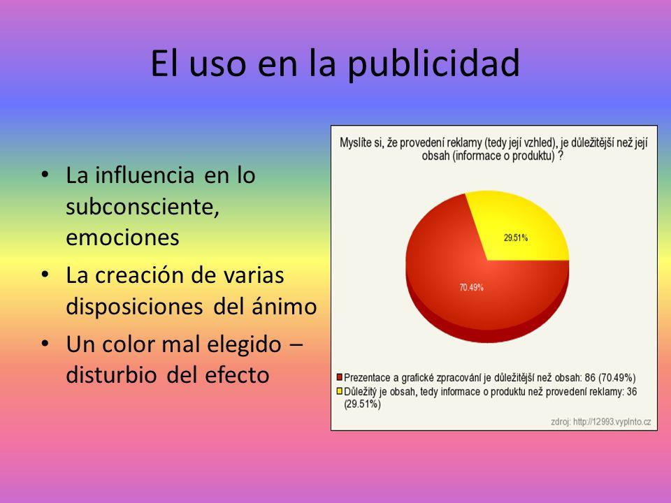 El uso en la publicidad La influencia en lo subconsciente, emociones