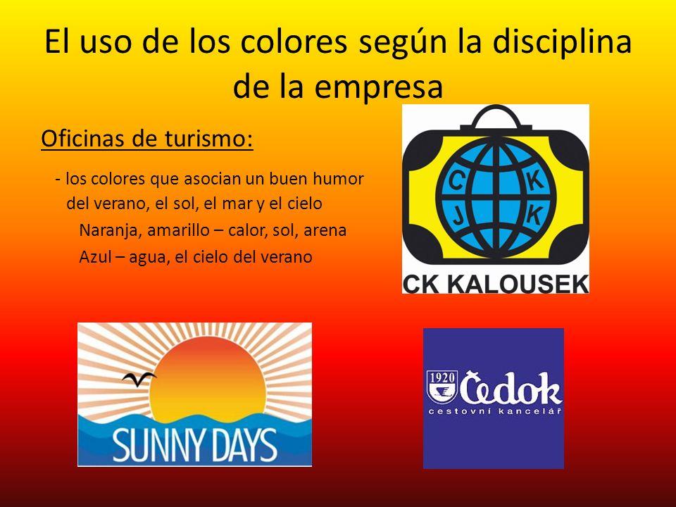 El uso de los colores según la disciplina de la empresa