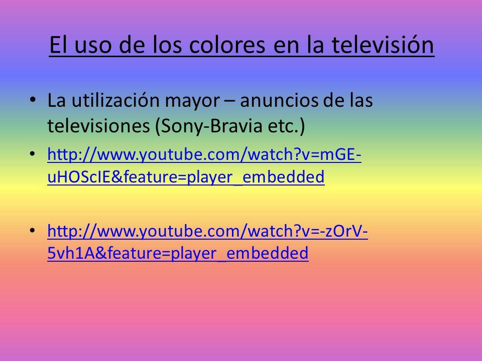 El uso de los colores en la televisión