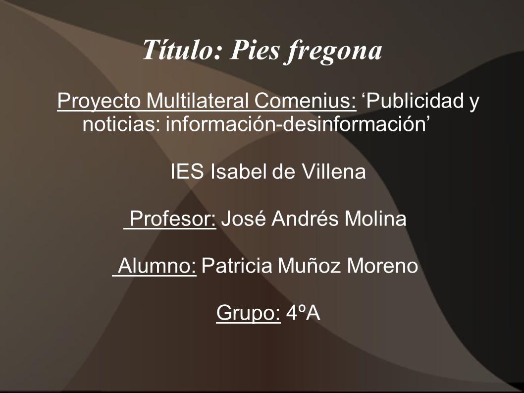 Proyecto Multilateral Comenius: 'Publicidad y noticias: información-desinformación'