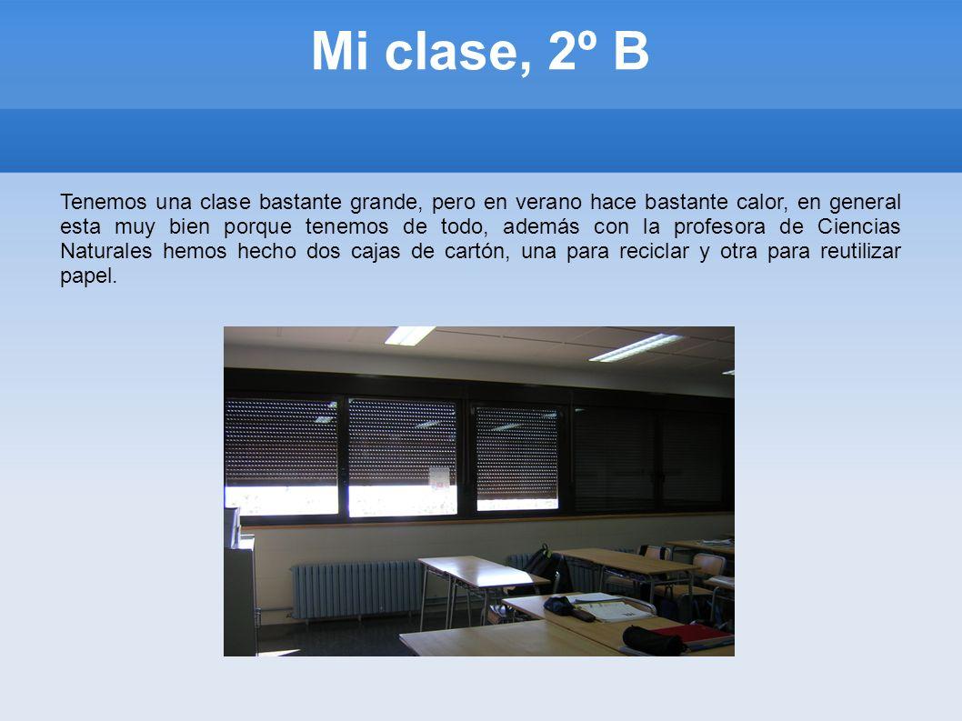 Mi clase, 2º B
