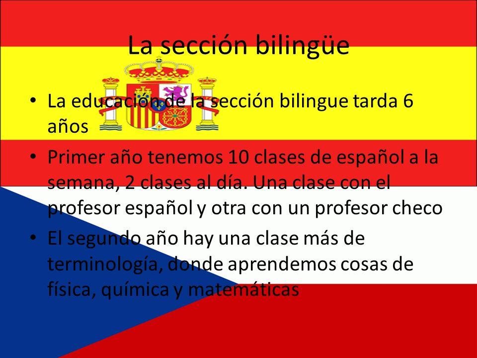 La sección bilingüe La educación de la sección bilingue tarda 6 años