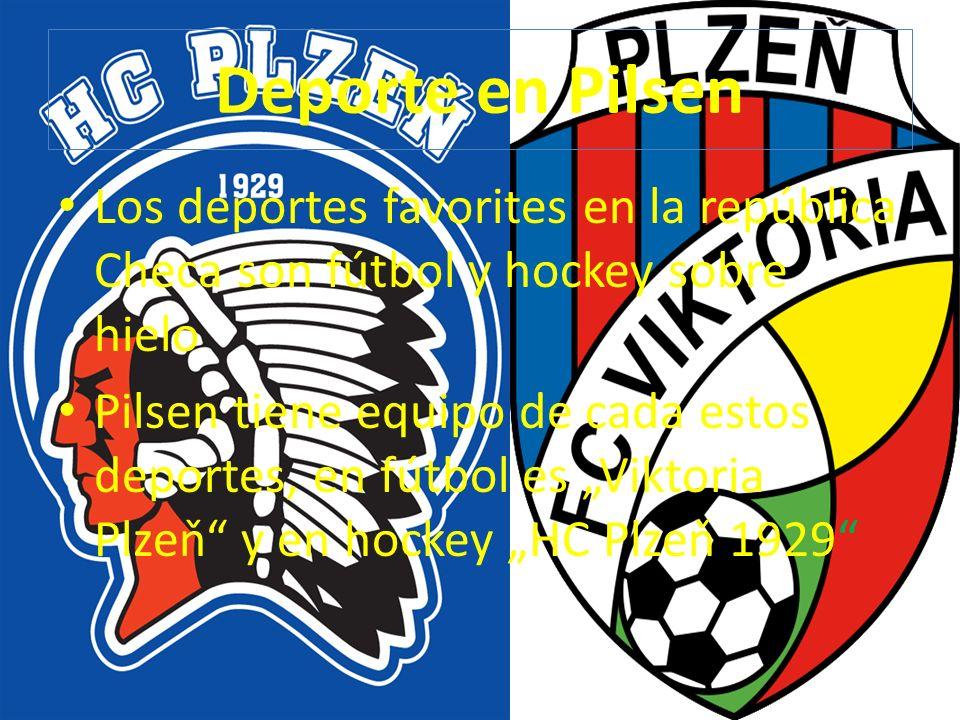 Deporte en Pilsen Los deportes favorites en la república Checa son fútbol y hockey sobre hielo.