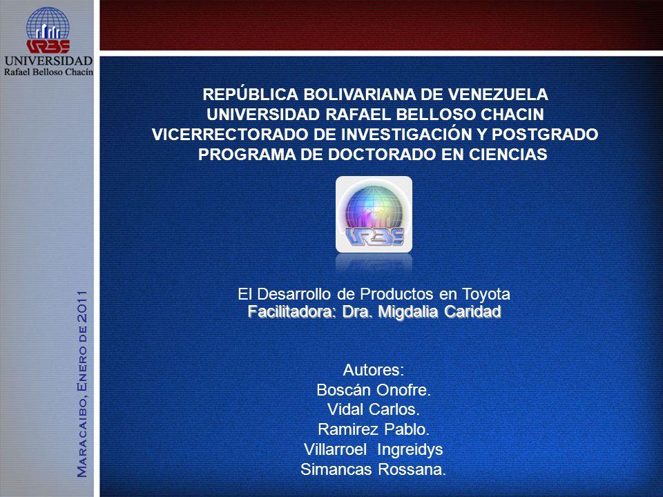 REPÚBLICA BOLIVARIANA DE VENEZUELA UNIVERSIDAD RAFAEL BELLOSO CHACIN