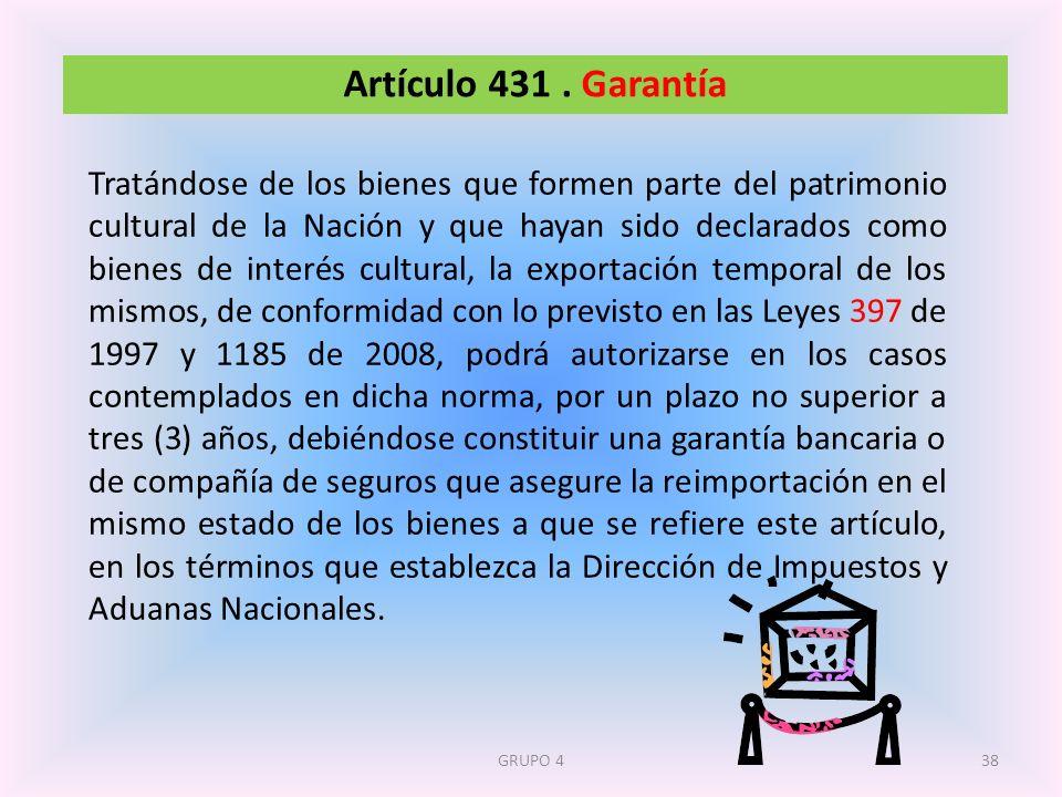 Artículo 431 . Garantía