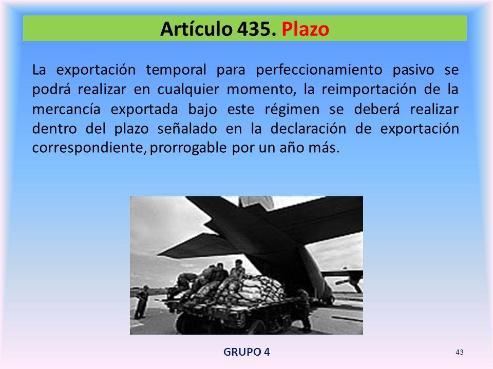Artículo 435. Plazo