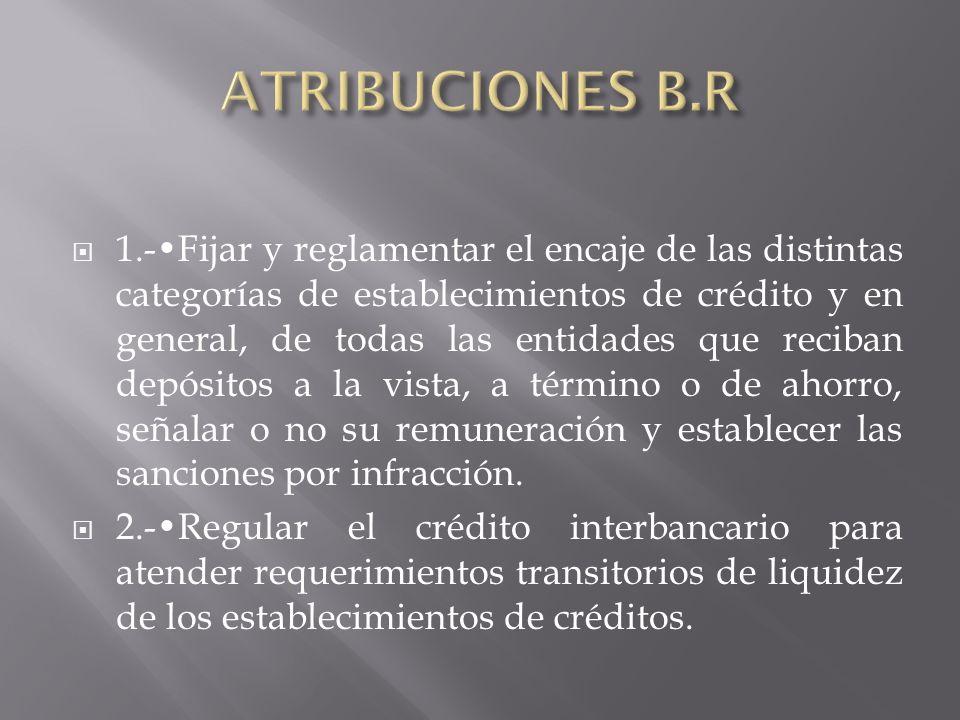 ATRIBUCIONES B.R