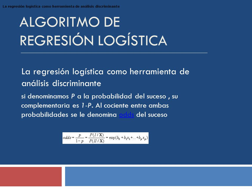 Algoritmo de Regresión Logística