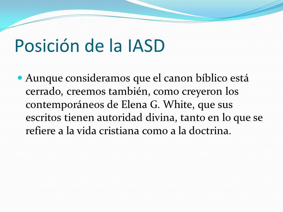 Posición de la IASD